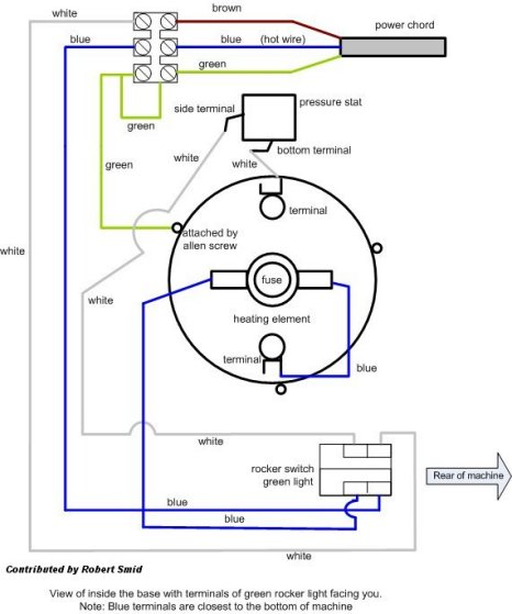dr pavoni this is a rough wiring schematic of a 230 volt european professional